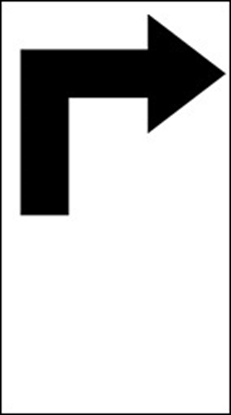 Picture of Right Turn Only Sign