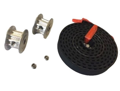 Picture of 10 Tooth Pulley (2) & Timing Belt Set