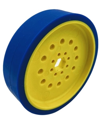 """Picture of 100mm Drive Wheel - 50A - 25mm wide - 1/2"""" Inner Hex - Blue"""