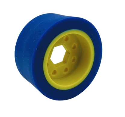 """Picture of 50mm Drive Wheel - 50A - 25mm wide - 1/2"""" Inner Hex - Blue"""